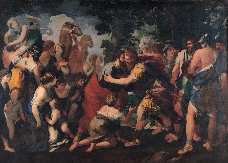 Raffaellino_Bottalla_-_Meeting_between_Esau_and_Jacob_-_Google_Art_Project