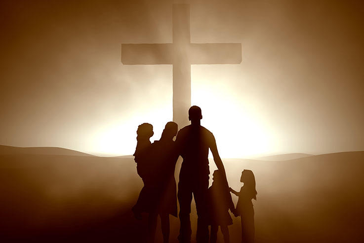 Family at the Cross